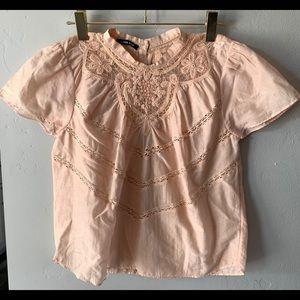 Anthropologie Love Sam Miranda lace blouse.